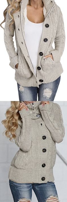 Cozy Cable Knit Cardigan for Fall! This looks sooooo warm! (aff)
