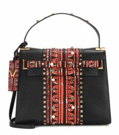 My Rockstud printed leather shoulder bag | Valentino