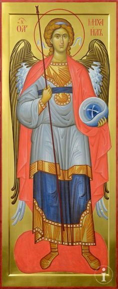 The Holy Archangel Michael. Religious Images, Religious Icons, Religious Art, Byzantine Icons, Byzantine Art, Angel Protection, Male Angels, Casual Art, Angel Warrior