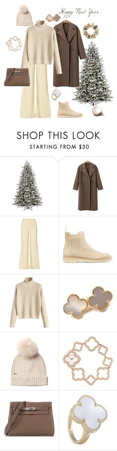 """Без названия #859"" by mademoisellevictoria ❤ liked on Polyvore featuring GE, The Row, Common Projects, Van Cleef & Arpels, Woolrich and Hermès"
