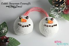 Edible Snowman Ear Muffs with Hostess