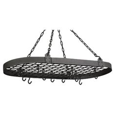 Organize your cookware in style with the Old Dutch Oval Pot Rack. The half oval shaped rack is adjustable and constructed from steel that makes it robust and durable. It is available in various finishes that provide you with a wide range to choose from. The rack comes with 12 hooks that can be easily repositioned according to your requirements. These additional hooks are ideal to hang your extra cookware like skillets, pans, or other such utensils. Featuring a shelf at the top, this rack is…