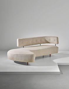 Taichiro Nakai, Rare sofa, designed for the 'Prima Mostra Selettiva', Cantù, circa Phillips Sofa Furniture, Luxury Furniture, Furniture Design, Interior Design Studio, Modern Sofa, Sofa Design, Contemporary Furniture, Interior Architecture, Upholstery