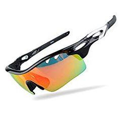 Sports Men Sunglasses Polarized for Golf Cycling Fishing Hiking Baseball with 3 Changeable REVO Lenses by Bazar Buy Bike, Bike Run, Cool Bike Accessories, Sunglasses Accessories, Polarized Sunglasses, Mens Sunglasses, Calf Socks, Men Hiking, Best Gifts For Men