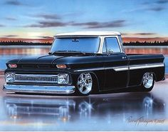1964 1965 1966 chevy c10 #fleetside #pickup truck art print poster #black & white,  View more on the LINK: 	http://www.zeppy.io/product/gb/2/321982975206/