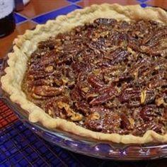Favorite Bourbon Pecan Pie. Taste tested, use dark corn syrup.