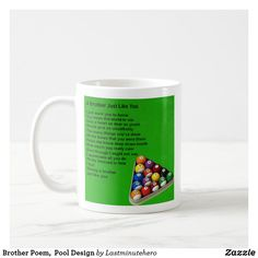 Shop Brother Poem, Pool Design Coffee Mug created by Lastminutehero. Brother Poems, Gifts For Brother, Pool Designs, Holiday Photos, Coffee Mugs, Great Gifts, Tableware, Holiday Pictures, Vacation Pictures