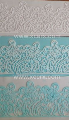 Lace #1: Beautiful lace with normal sugar paste