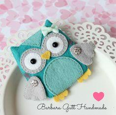 Barbara Handmade...: Płaska sówka / Flat owl