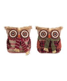 Loving this Owl Throw Pillow - Set of Two on #zulily! #zulilyfinds