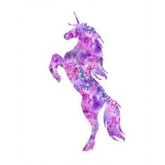 Unicorn print, unicorn watercolor, unicorn art, unicorn painting,... ❤ liked on Polyvore featuring home, home decor, wall art, unicorn home decor, watercolor illustration, silhouette wall art, watercolor painting and watercolour painting