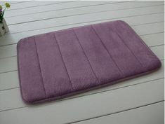 Slow Rebound Memory Foam Bath Mat Slip-Resistant Absorbent Mats Doormat Carpet 60X40Cm^Purple