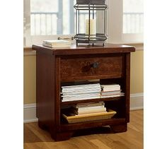 Sumatra 1-Drawer Bedside Table #potterybarn  This is for when we are like...hmm...what do we do with our extra money?