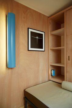 Charlotte Perriand x Louis Vuitton: Unrealised 1934 Beach House -Architecture, Design, Interiors Miami Beach House, Tiny Beach House, Beach House Decor, Home Decor, Beach Houses, Charlotte Perriand, Bed Design, House Design, Light Blue Paints