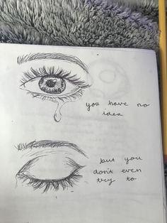 Sad Drawings, Cool Art Drawings, Pencil Art Drawings, Amazing Drawings, Art Drawings Sketches, Beautiful Drawings, Drawing Ideas, Drawing Quotes, Sad Art