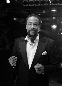 Love this picture of Marvin Gaye! This is what you call SWAG! There was just something about that man that scream smooth!!