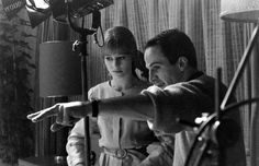 Julie Christie takes direction from Francois Truffaut on the Fahrenheit 451 set in London, 1966.  Read more: Julie Christie: Rare Photos of a Sixties Movie Icon, 1966 | LIFE.com http://life.time.com/culture/julie-christie-rare-photos-of-a-sixties-movie-icon-1966/#ixzz3Pk6X59tx
