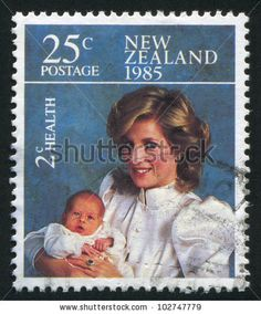 princess diana: NEW ZEALAND - CIRCA stamp printed by New Zealand, shows Princess Diana and Prince Henry, circa 1985 Editorial Postage Stamp Design, Postage Stamps, African American History, British History, Royal Family Trees, Princess Diana Family, Stamp Printing, Penny Black, Thing 1