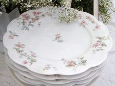 . . . Cabin & Cottage : Limoges Luncheon Plates