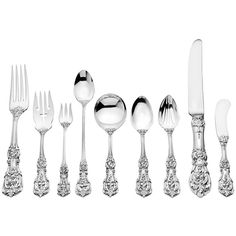 Shop more silver, flatware and silverplate and other modern and antique silver from the world's best dealers. Francis I, Wedding Renewal Vows, Vintage Dinnerware, Reed & Barton, Sterling Silver Flatware, Flatware Set, Antique Silver, Silver Plate, Design Art