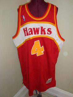 Vintage NBA 1986-87 Atlanta Hawks Webb # 4 Hardwood Classics Basketball Jersey #NBA #Jerseys