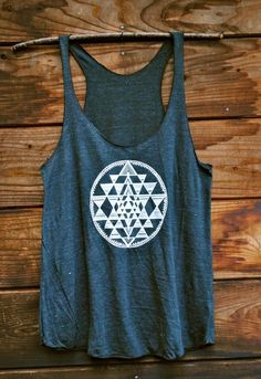 tank cute grey blue design hipster geometric