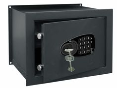 WALL SAFE WITH DIGITAL LOCK AND KEY
