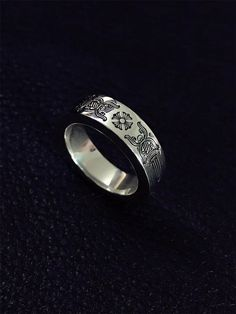 5b74e351cdb9  Chrome Hearts CH 6mm Spacer dagger ring - classic ring - Klhearts