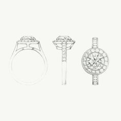 A sketch of the Tiffany Embrace diamond engagement ring. #TiffanyPinterest