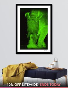 Discover «Rhino neon green 6085», Numbered Edition Fine Art Print by Barbara Fraatz - From $24.9 - Curioos Fine Art Prints, Canvas Prints, Neon Green, Fine Art Paper, Graphic Design, Artist, Artwork, Painting, Color