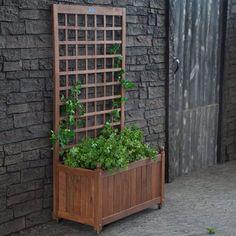 Jordan Manufacturing Wood Planter Box with Trellis