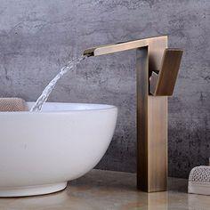 MVpower Mitigeur Robinet a Vasque Robinet de Lavabo Laiton Chrome