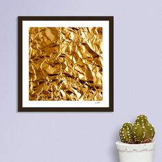 «Crumpled Golden Foil» - This numbered edition Giclée Art Print, designed by DistinctyDesign, comes with a numbered and signed certificate of authenticit...