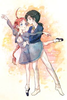 Duck and Fakir having a romantic dance of ballet together