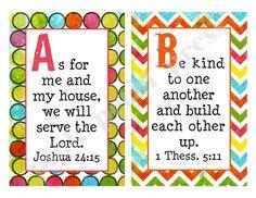 Alphabet Bible Verses Printable