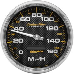 AutoMeter 4889 Carbon Fiber In-Dash Electric Speedometer, Bright Anodized Gauge Kit, Wheels And Tires, How To Make Shorts, Carbon Fiber, Series 3, Electric, Simple, Easy, Autos