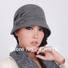 Goedkope , koop rechtstreeks van Chinese leveranciers: Kunt u kiezen voor de kleuren van een 1, een 2, een 3. gemengde kleuren optioneleGroothandel vrouwen winter mode dames populaire casual cloche caps nieuwe designer 100 % wol vilten hoed
