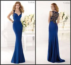 Discount Charming Tarik Ediz Royal Blue Evening Dresses Mermaid Beaded Sweep-train Sleeveless Spring Prom Gowns 2014 Long Formal Pageant Dress Sexy Online with $145.0/Piece | DHgate