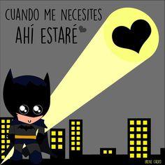 Ilustracion inspirada en Batman de Irene Calvo