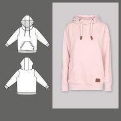 Stoff & Stil hooded Sweater 22054 - The Foldline Romper Pattern, Hoodie Pattern, Beanie Pattern, Sewing Blogs, Pdf Sewing Patterns, Sewing Projects, Sewing For Kids, Baby Sewing, Scandinavian Pattern