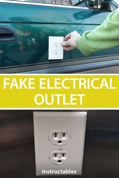 Fake Electrical Outlet – April Fool's – Fake Electrical Outlet – April Fool's – Image. April Fools Pranks, April Fools Day, Purple Ladybugs, Pranks For Kids, The Best Bet, Lame Jokes, Makes Me Wonder, Practical Jokes, Electrical Outlets