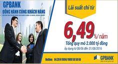 """GP Bank gia hạn và mở rộng gói vay """"Đồng hành cùng khách hàng"""""""