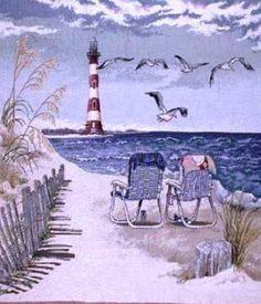 Seaside Escape Lighthouse Cross Stitch Pattern***L@@K*** by JAYLM2006 on Etsy https://www.etsy.com/listing/127636509/seaside-escape-lighthouse-cross-stitch