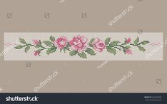 Beaded Cross Stitch, Cross Stitch Borders, Cross Stitch Rose, Modern Cross Stitch Patterns, Cross Stitch Designs, Cross Stitch Embroidery, Hand Embroidery, Everything Cross Stitch, Needlepoint