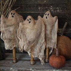 Prim Old Sewing Bobbins...ghosts.