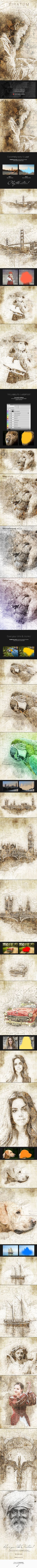 Piratum Map Art Photoshop Action — Photoshop ABR #design #acrylic