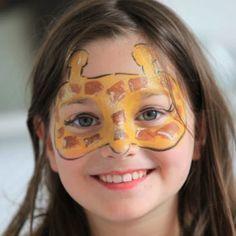 Easy Animal Face Paint Giraffe <b>face paints</b> & glitter :<b>facepaint</b>.com