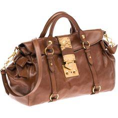Miu Miu Top Handle ($1,450) ❤ liked on Polyvore featuring bags, handbags, borse, women, top handle purse, miu miu, miu miu handbags, cell phone purse and metal purse