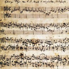 J.S. Bach (1685-1750) - Autographed manuscript of the Ricercare a 6 from The Musical Offering BWV 1079