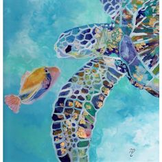 Tropical Fish Sea Life Art ($21) ❤ liked on Polyvore featuring home, home decor, wall art, white home decor, white paintings, sea turtle wall art, fish paintings and turtle wall art